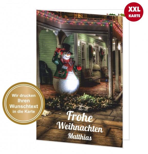 Xxl Weihnachtskarte Nostalgischer Schneemann