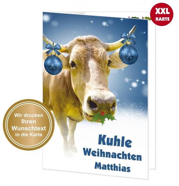 Xxl Weihnachtskarte Kuhle Weihnachten
