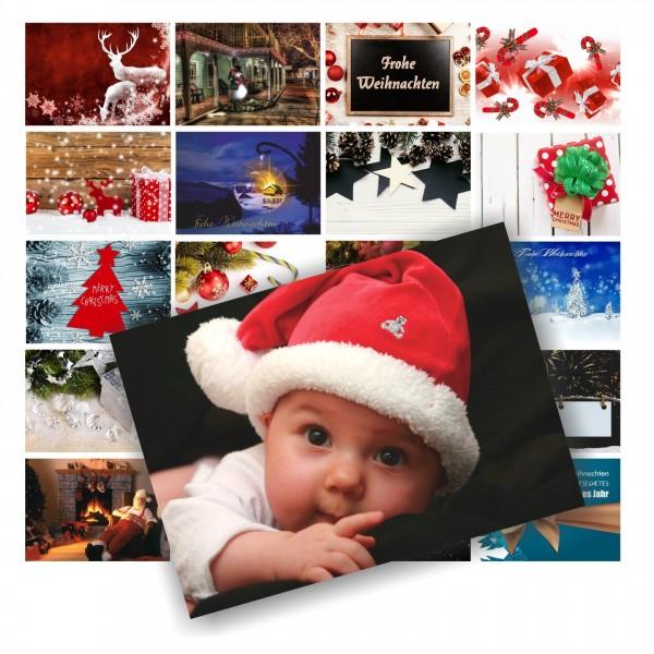 20 Wunderschöne Postkarten Weihnachtskarten