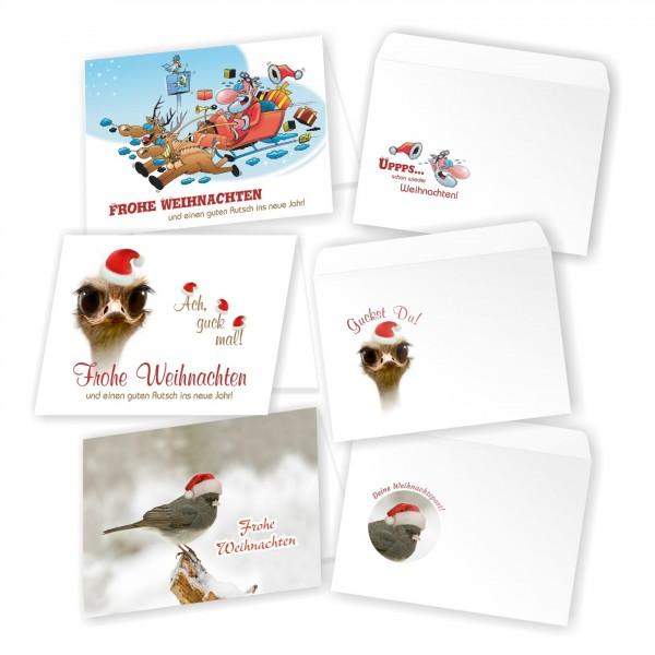 Witzige Weihnachtskarten Guenstig Set Kaufen