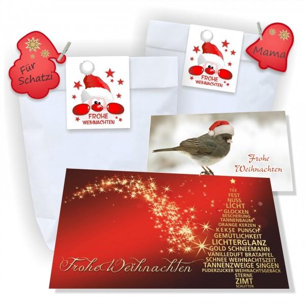 Weihnachtstüten Individuell Geschenk Aufkleber