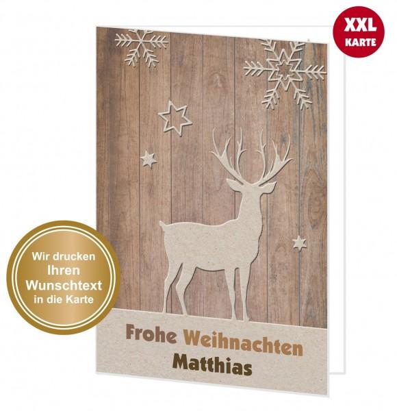 Xxl Weihnachtskarte Rentier Designkarte