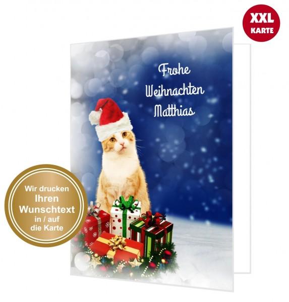 Frohe Weihnachten F303274r Kunden.Katze Mit Weihnachtsmutze