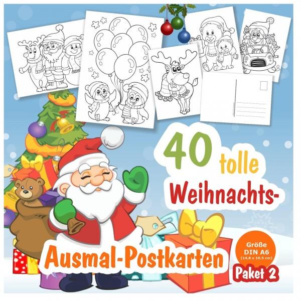 Weihnachtskarten Ausmalbilder Weihnachten Kinder Motive